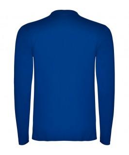 Espalda Camiseta Manga Larga azul eléctrico