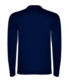 Espalda Camiseta Manga Larga azul marino