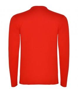 Espalda Camiseta Manga Larga rojo