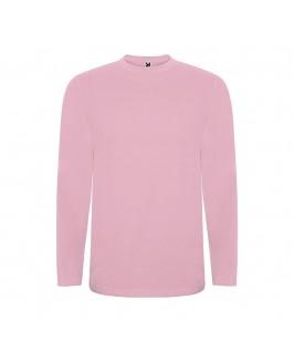 Camiseta manga larga rosa suave