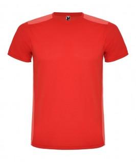 Camiseta técnica de color rojo