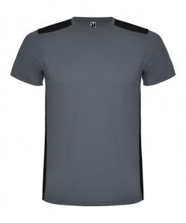 Camiseta técnica de color gris con negro