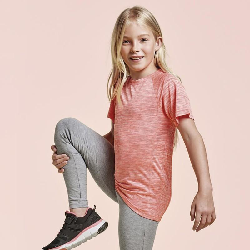 Camiseta deportiva Coral fluorescente