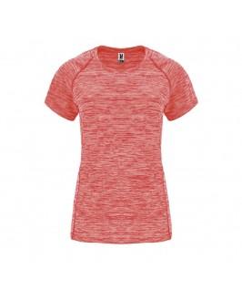 Camiseta deporte Austin coral fluorescente
