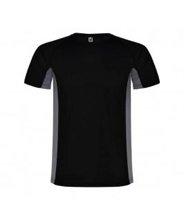 Camiseta técnica Shanghai negro con gris