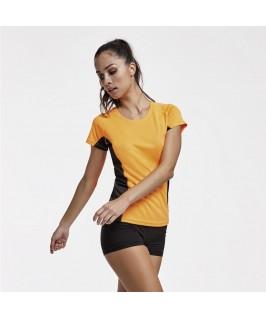 Camiseta técnica Shanghai Naranja fluorescente con negro