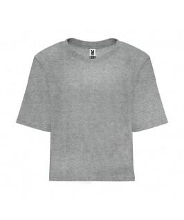 Camiseta corta Dominica gris jaspeado