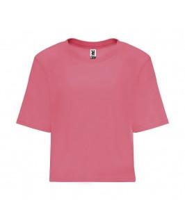 Camiseta corta Dominica rosa fluorescente