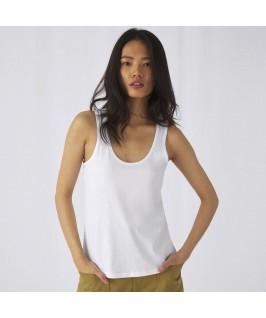 Camiseta tirantes orgánica blanca