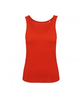 Camiseta tirantes orgánica roja