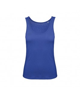 Camiseta tirantes orgánica azul eléctrico