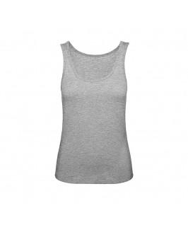 Camiseta tirantes orgánica gris jaspeado