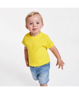 Camiseta Manga Corta Bebé amarilla