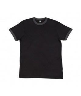 Camiseta negro con gris jaspeado oscuro