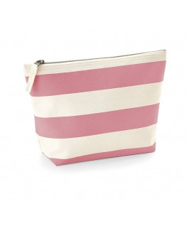 Neceser Nautical rayas natural con rosa