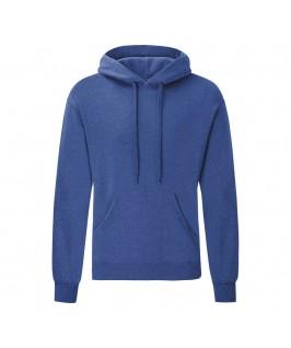Sudadera con capucha unisex azul eléctrico jaspeado