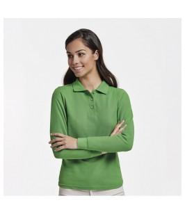 Polo Manga Larga Mujer verde
