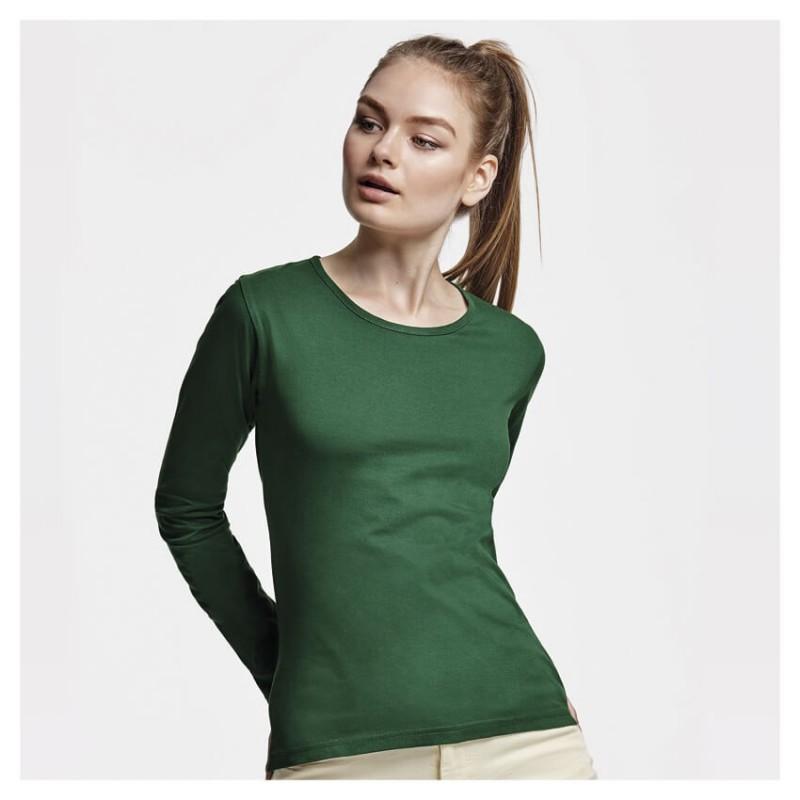 Camiseta Manga Larga verde botella