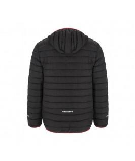 Espalda chaqueta negra con roja