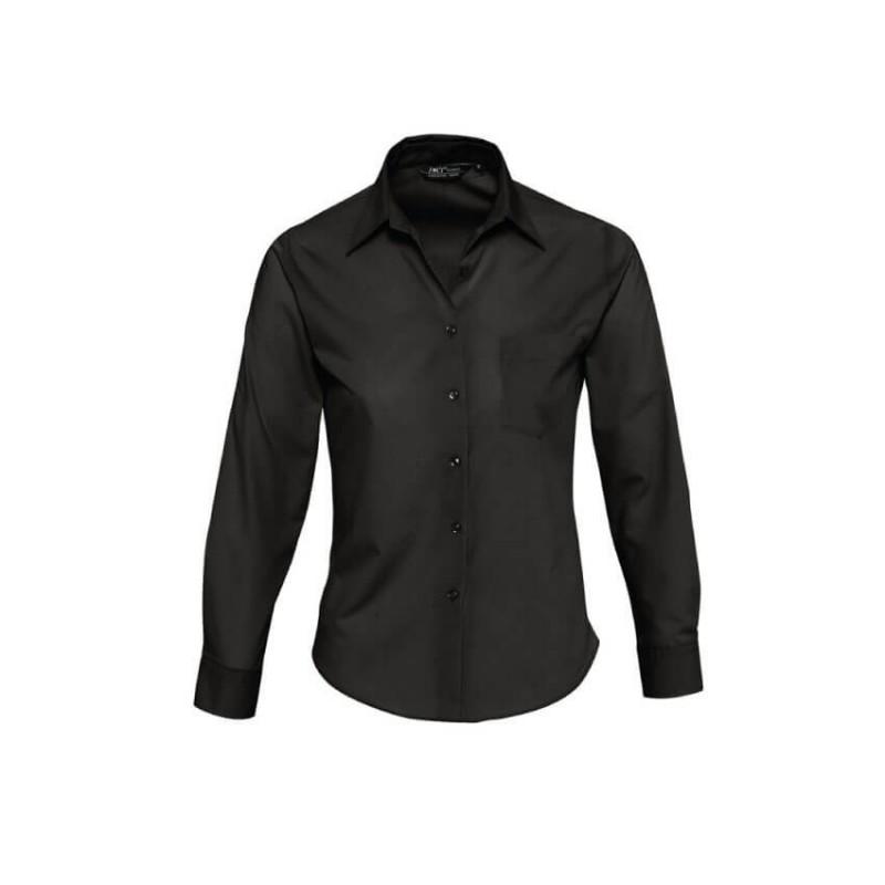 Camisa Básica Mujer negra