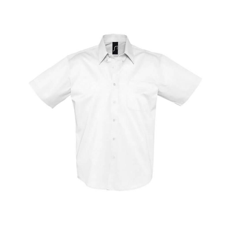 Camisa Manga Corta Hombre Brooklyn blanca