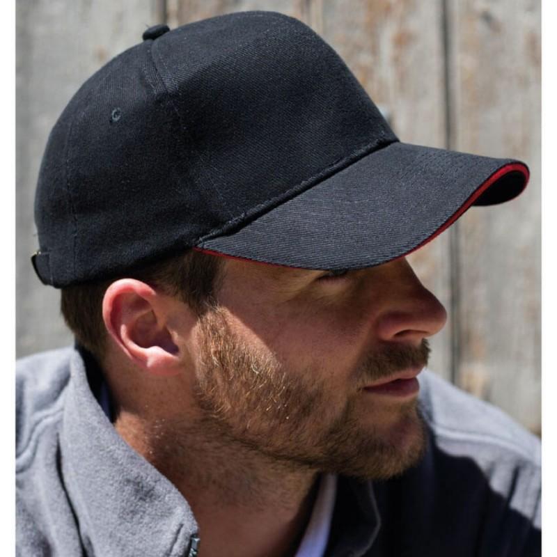 Gorra negro con rojo