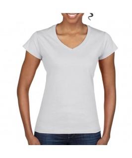 Camiseta cuello pico blanca