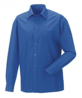 Camisa azul eléctrico