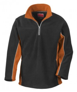 Jersey Polar negro con naranja