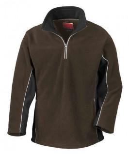 Jersey polar marrón chocolate con negro