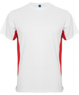 Camiseta blanco con rojo