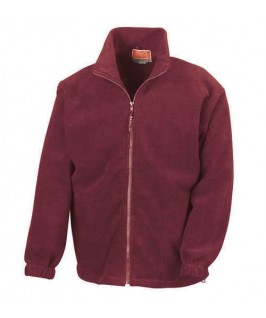 Chaqueta polar granate