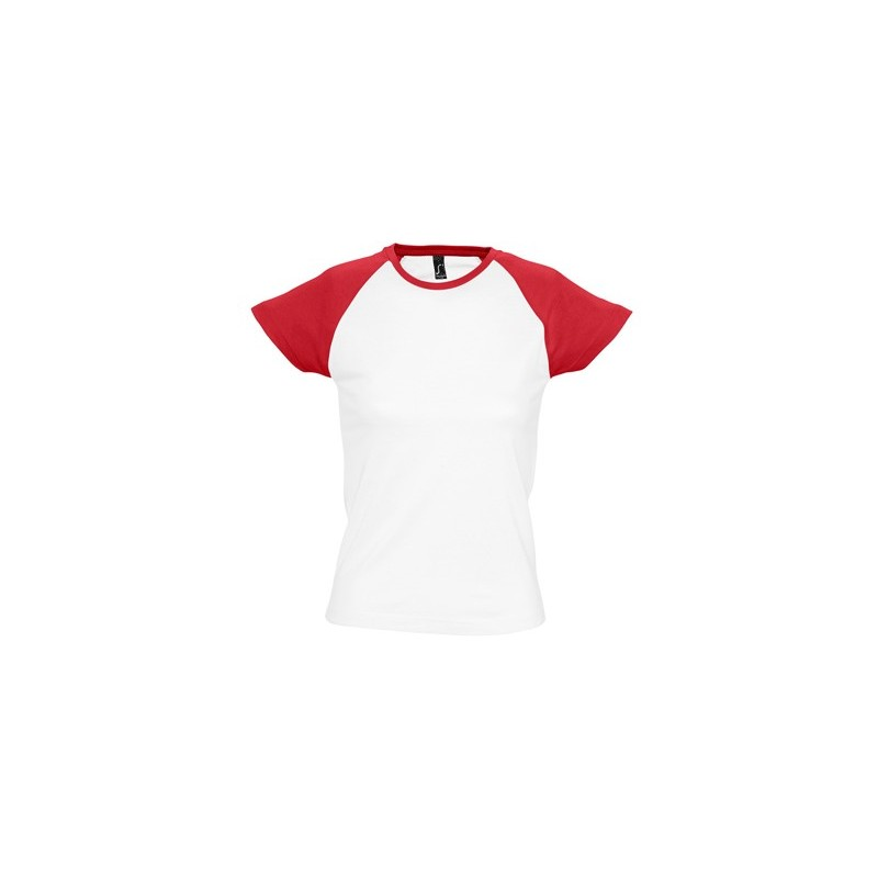 Camiseta blanca con rojo