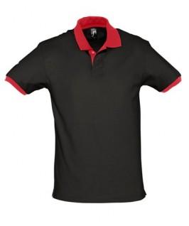 Polo negro con rojo
