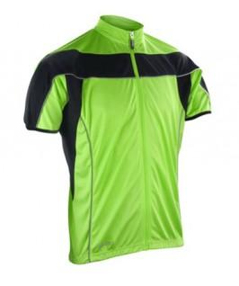 Maillot cicilismo verde fluorescente
