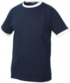 Camiseta azul marino con blanco