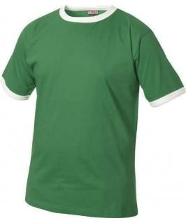 Camiseta verde con blanco