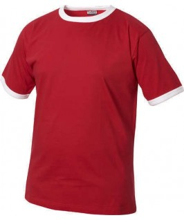 Camiseta roja con blanco