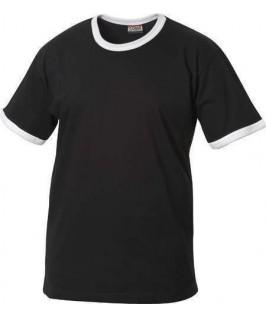 Camiseta negra con blanco