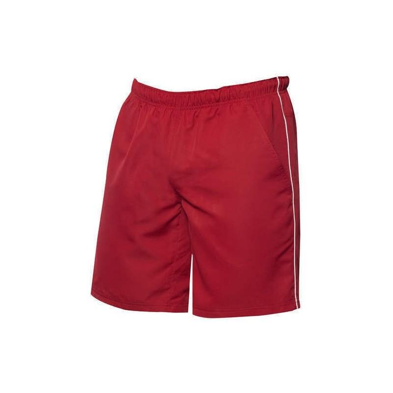 Pantalones cortos rojo con blanco