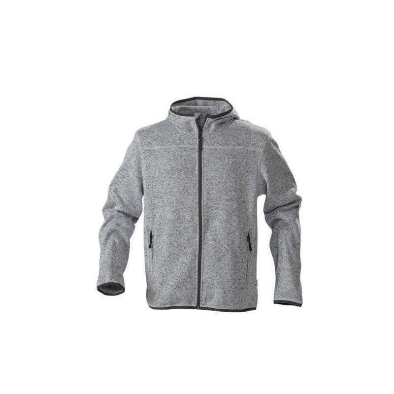 ... Hombre Richmond de James Harvest. Chaqueta polar gris jaspeado 95c135b9551b3
