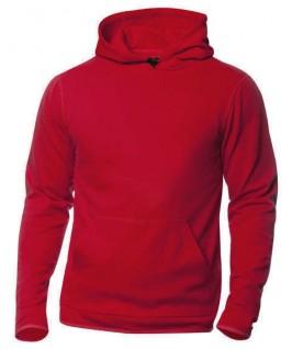 Sudadera capucha rojo