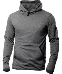 Sudadera capucha gris jaspeado oscuro