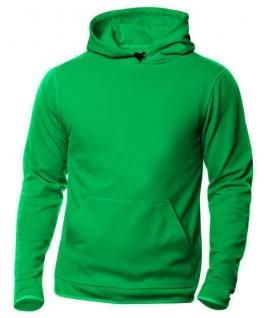 Sudadera capucha verde hierba