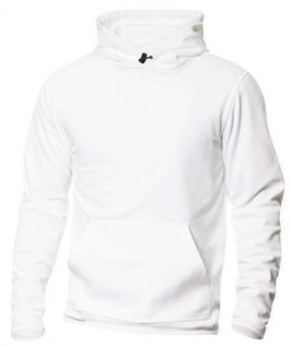 Sudadera capucha blanco