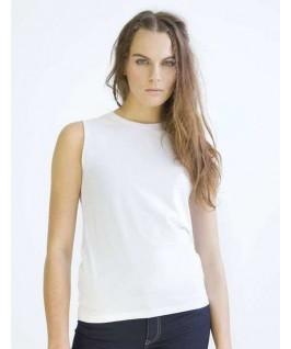 Camiseta orgánica sin mangas blanca