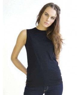 Camiseta orgánica sin mangas negra