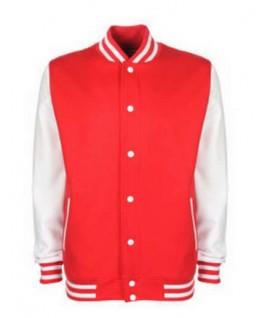 Chaqueta universitaria rojo con blanco