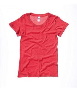 Camiseta triblend rojo
