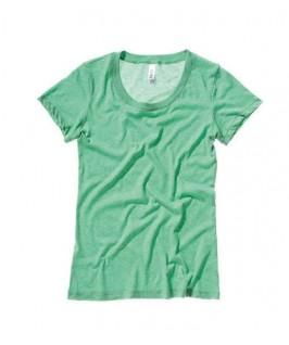 Camiseta triblend verde